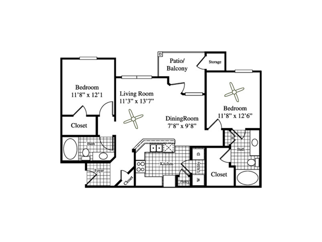 Two Bedroom Apartments for rent in Temple, Texas Apartments l Wildflower Villas Apartments
