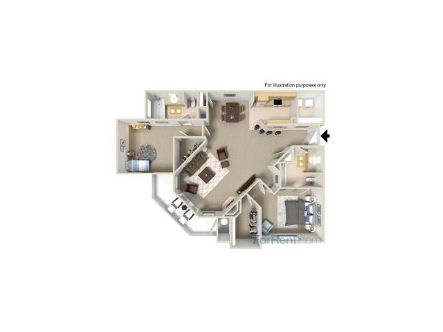 Two Bedroom Apartments for rent in Fairfield Apartments l Park Crossing