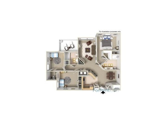 Three Bedroom Apartments for rent in Fairfield Apartments l Park Crossing