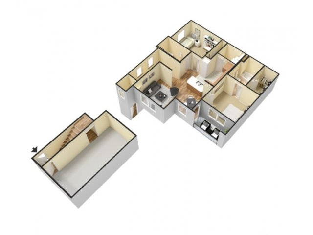2x2 Apartments for rent in Waco, Tx l Canyon Springs
