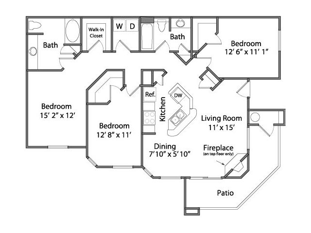 Three Bedroom Apartments in Rancho Cordova, CA l Oakbrook Apartments