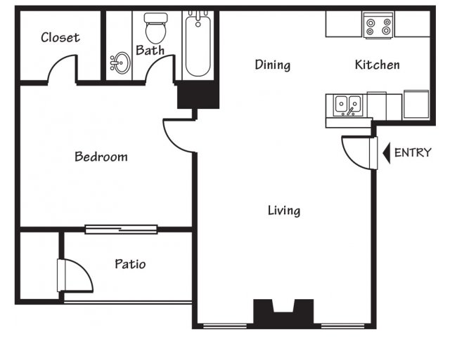 One bedroom apartments for rent in El Paso, TX