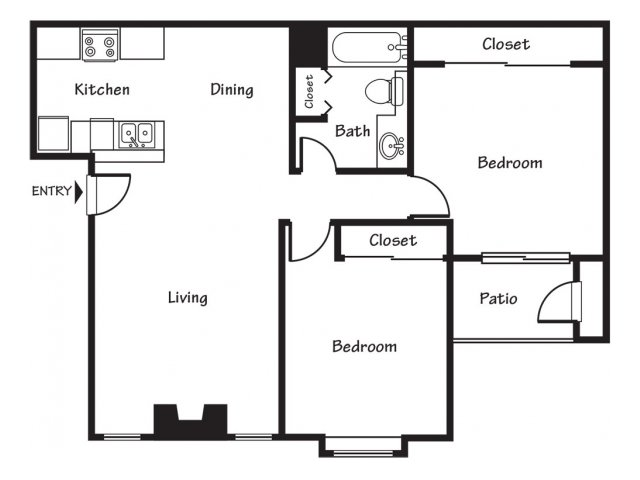 Two bedroom apartments for rent in El Paso, TX