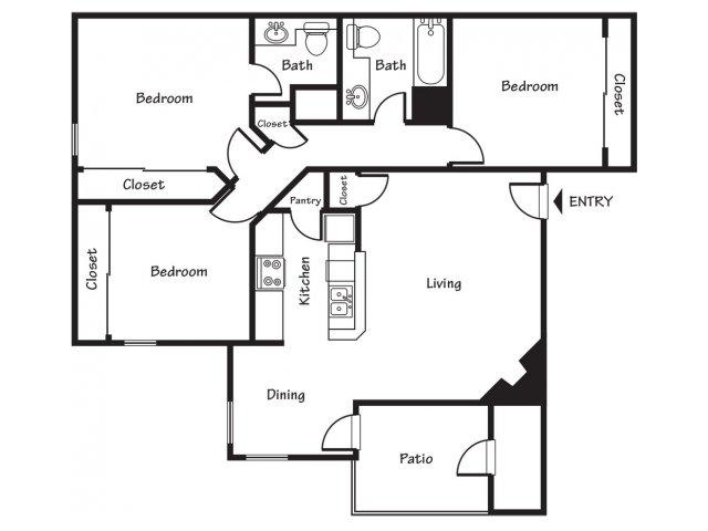 Three bedroom apartments for rent in El Paso, TX