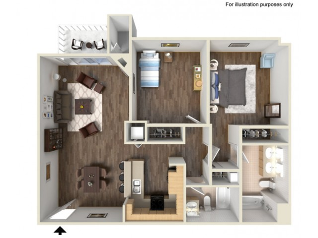 Two Bedroom Apartments for rent in Santa Clarita, CA l Canyon Crest Apartment Homes
