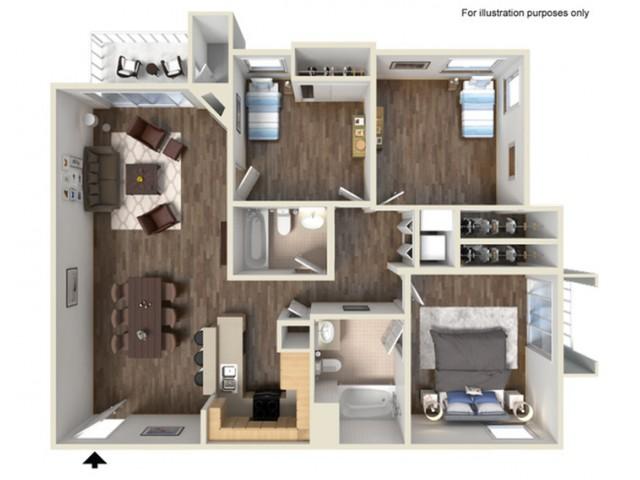 Three Bedroom Apartments for rent in Santa Clarita, CA l Canyon Crest Apartment Homes