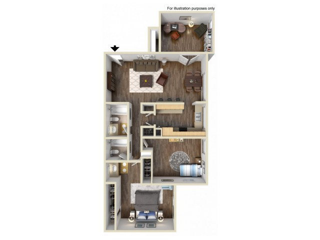 Sunset Apartments For Rent in West Covina offering 3x2 apartments