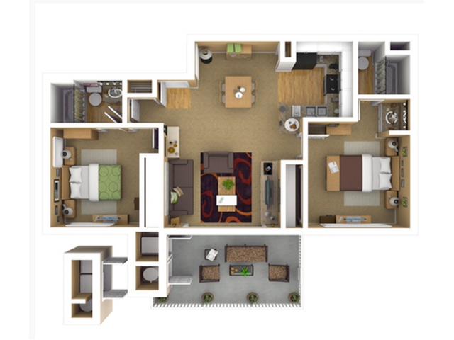 2x2 apartments for rent in Grand Terrace, CA l Highlands at Grand Terrace