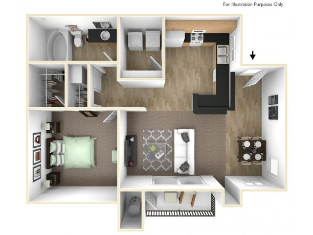 One Bedroom Apartments in Roseville, CA Apartments l The Preserve at Creekside Apartments