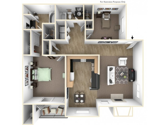 Two Bedroom Apartments in Roseville, CA Apartments l The Preserve at Creekside Apartments