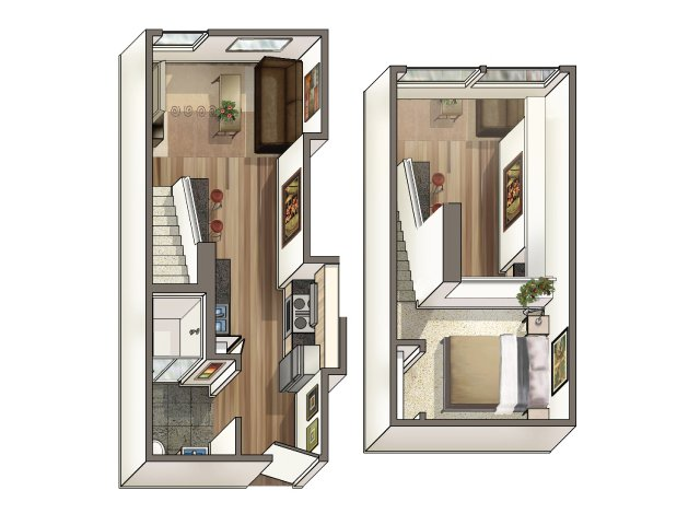 Studio Loft Apartment Floor Plans santa monica studio, one bedroom, and loft apartment for rent near