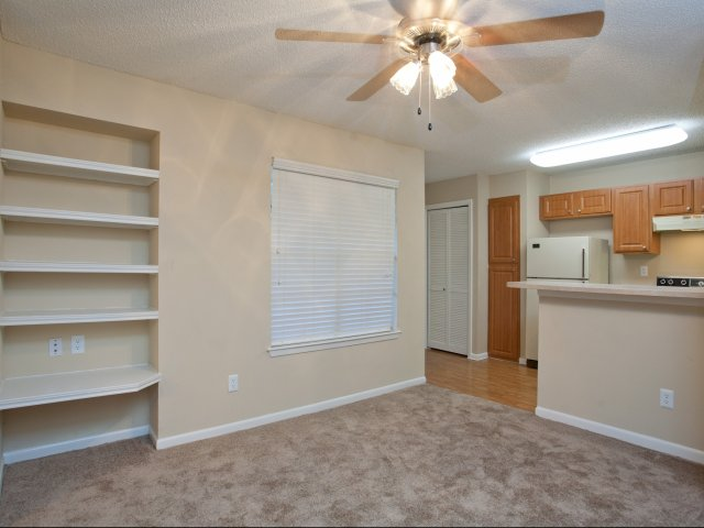 Arbors of Wells Branch Apartments for Rent in Austin, TX | Living Room and Kitchen