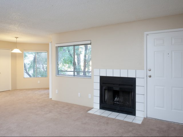Meadow Glen | Apartments For Rent in Glendale, AZ | Living Room with Fireplace