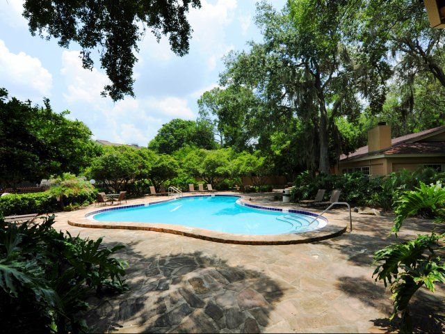Oak Ramble | Tampa, FL Apartments For Rent | Pool with Shade