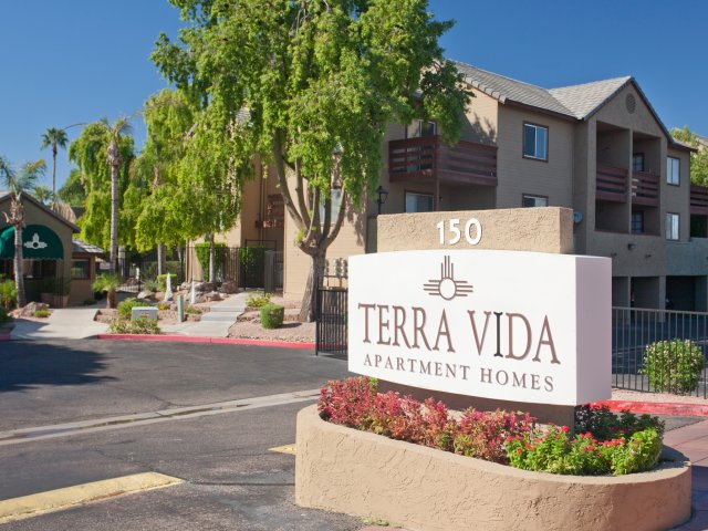 Terra Vida Apartments for Rent in Mesa, AZ | Entrance Sign