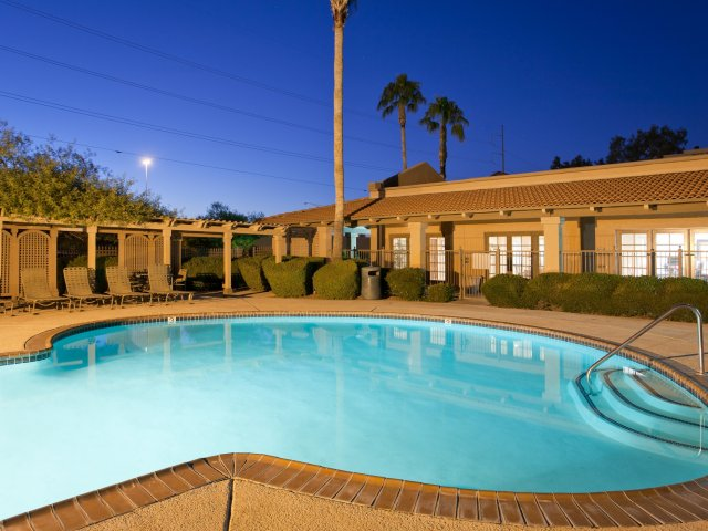 Villas at Cave Creek Apartments for Rent in Pheonix, AZ | Pool with Sundeck