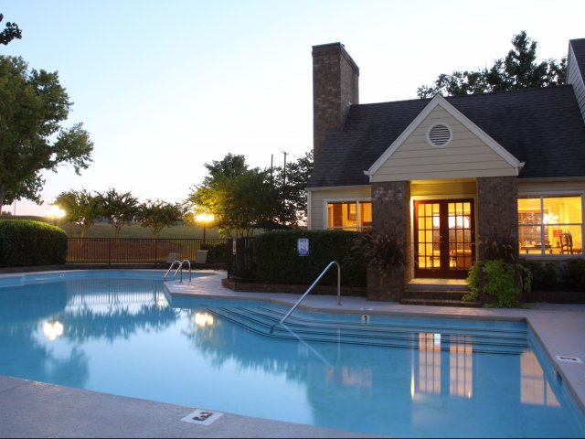 Windsor Park Apartments for Rent in Hendersonville, TN | Pool at Sunset