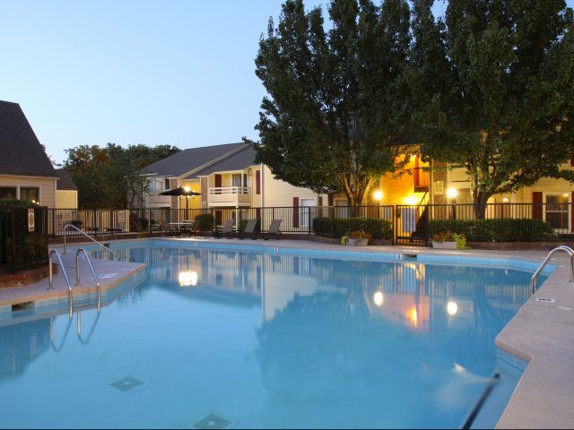Windsor Park Apartments for Rent in Hendersonville, TN | Community Pool at Night