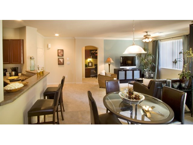 Waterford at Peoria Apartments for Rent in Peoria, AZ | Sweetwater Dining and Living Area