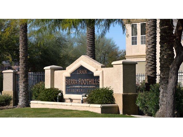 Sierra Foothills | Apartments For Rent in Phoenix, AZ | Entrance Sign