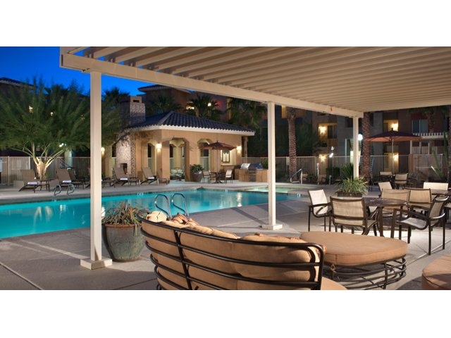 The Residences at Village Stadium Apartment in Surprise, AZ | Pool Cabana