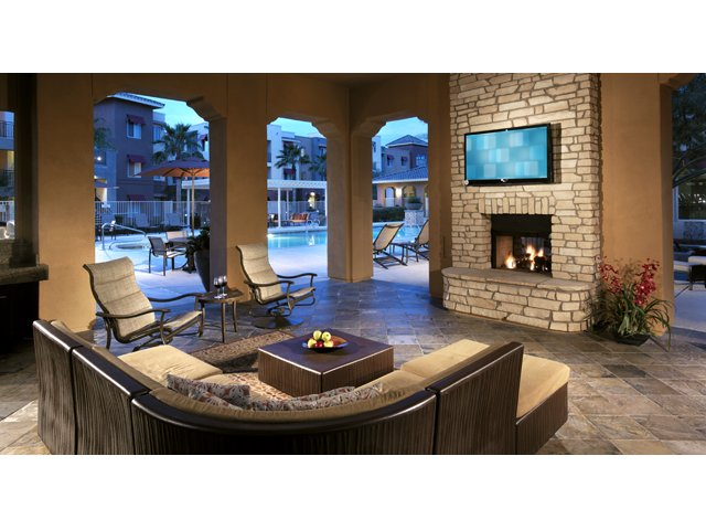 The Residences at Village Stadium in Surprise, AZ Apartments | Poolside Media Cabana