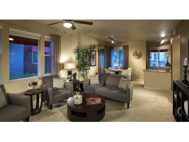 The Residences at Village Stadium Apartments in Surprise, AZ | Koufax Living Room