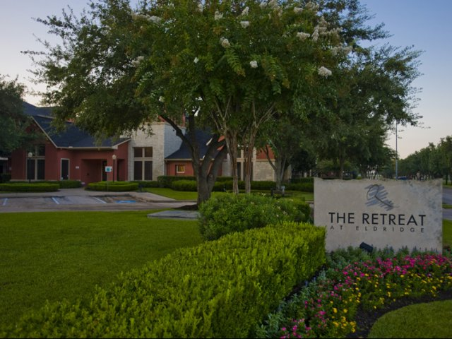 The Retreat at Eldridge Apartments for Rent in Houston, TX | Entrance Sign