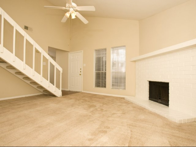 Central Park Regency | Apartments for Rent Cypress, TX | Living Room with Fireplace