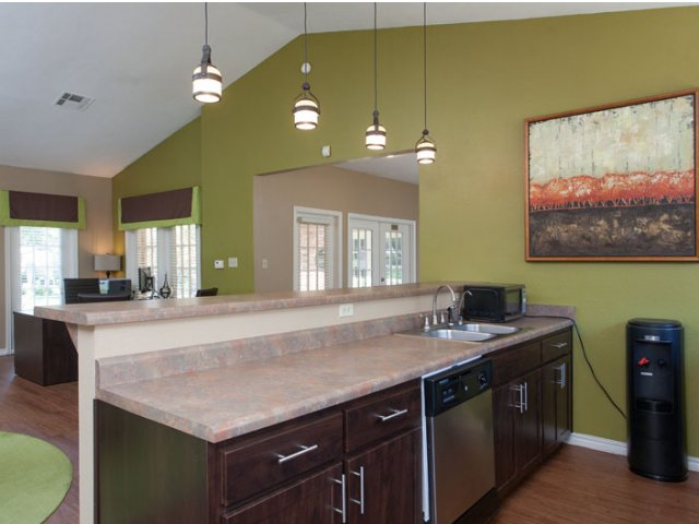 The Parks at Treepoint | Apartments For Rent in Arlington, TX | Clubhouse Kitchen