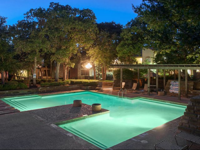 The Parks at Treepoint | Apartments For Rent in Arlington, TX | Swimming Pool at Night