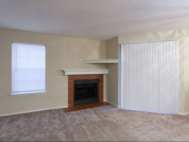 The Parks at Treepoint | Alrington, TX Apartments For Rent | Living Room with Fireplace