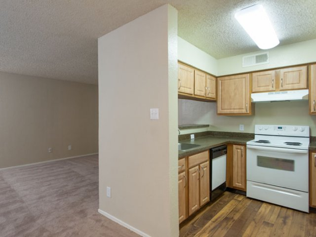 The Parks at Treepoint | Apartments For Rent in Arlington, TX | Kitchen and Living Area