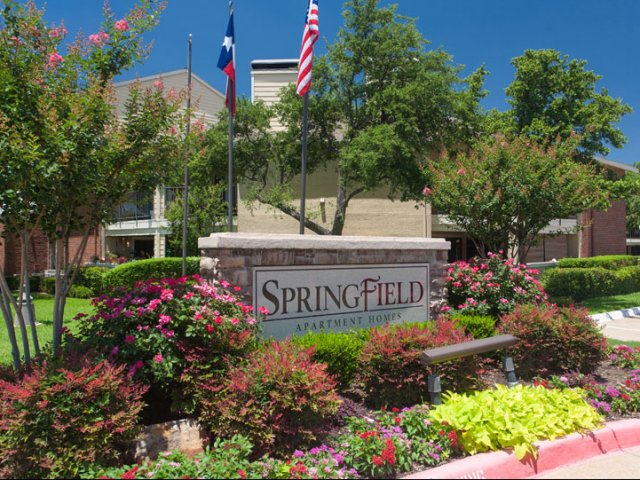 Springfield | Apartments for Rent in Mesquite, TX | Entrance Sign