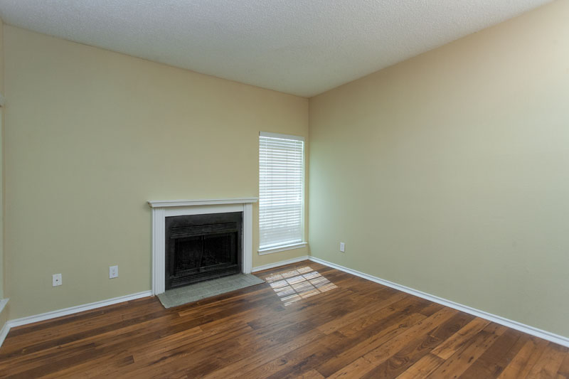Summers Landing Apartments for Rent in Fort Worth, TX | Living Room with Fireplace