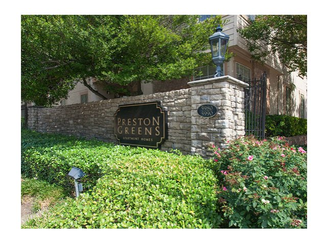 Preston Greens | Apartments For Rent in Dallas, TX | Entrance Sign