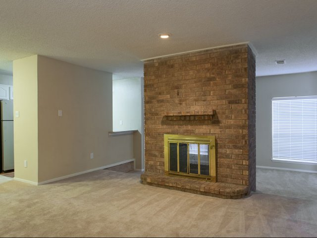 Preston Greens | Apartments For Rent in Dallas TX | Fireplace in Living Room