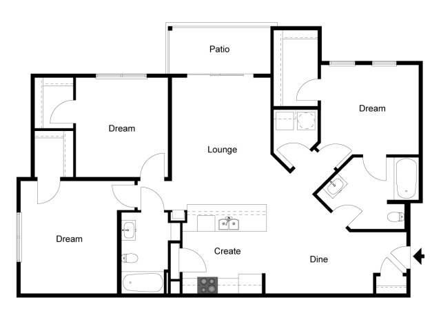 3 Bed 2 Bath Apartment In Daytona Beach Fl Andros