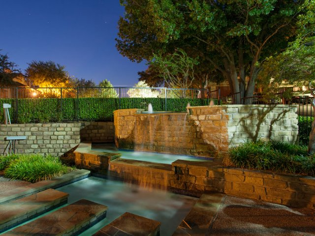 Apartments For Rent at The Gables of McKinney, TX | Swimming Pool at Dusk