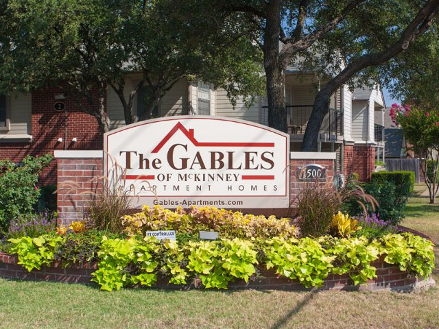 Apartments For Rent at The Gables of McKinney, TX | Entrance Sign