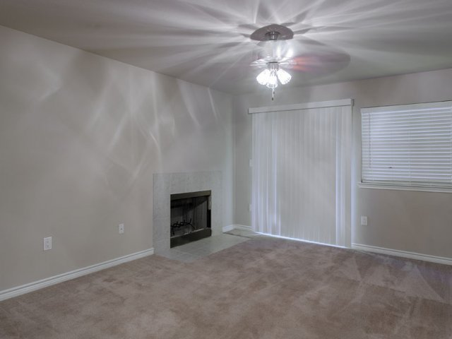 Apartments For Rent at The Gables of McKinney, TX | Living Room with Fireplace