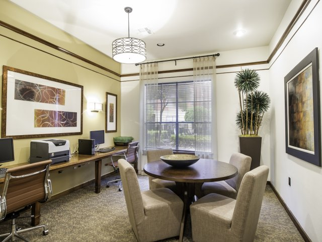 The Retreat at Eldridge Apartments for Rent in Houston, TX | Business Center