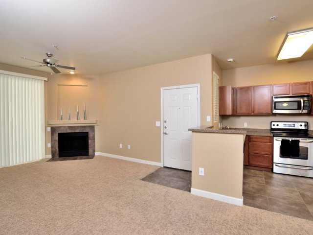 Lumiere Chandler Condos | Chandler, AZ Apartments For Rent | Kitchen, Dining and Living Area