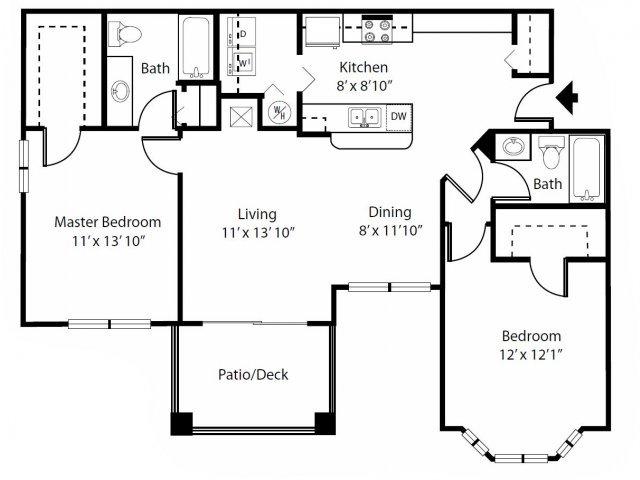 2 bed 2 bath apartment in kissimmee fl bella apartment for House plans with bay windows