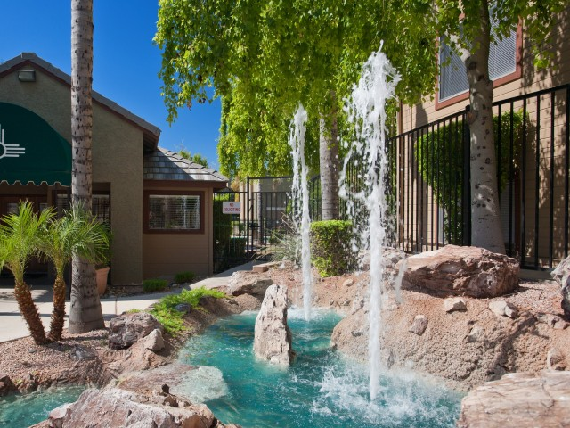 Terra Vida Apartments for Rent in Mesa, AZ | Waterscape with Fountain