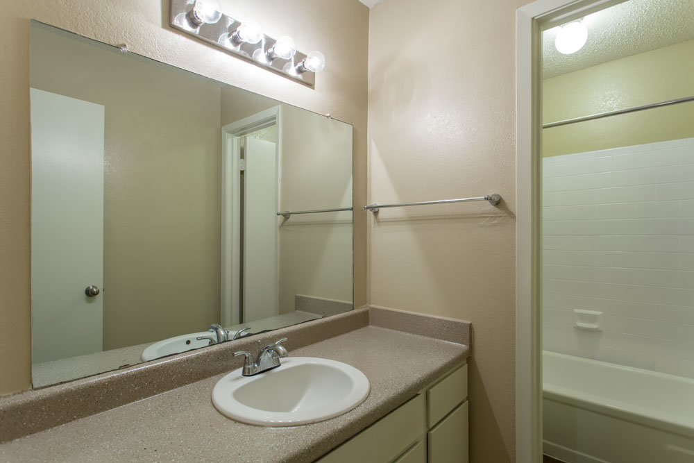 Woods of Bedford Apartments for Rent in Bedford, TX | Bathroom