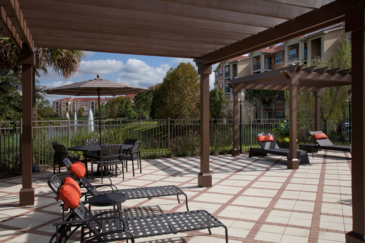 Bella Apartments - Kissimmee, Florida -Sundeck with Pergola