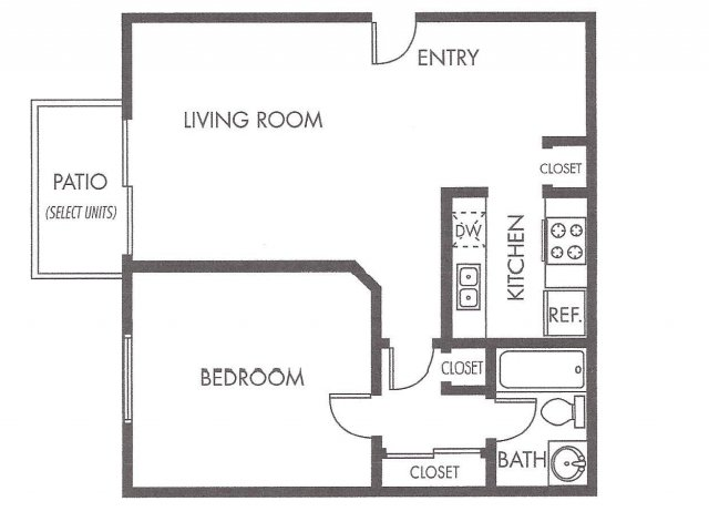 Bed   Bath Apartment in North Hollywood CA   Noho House NorthAll Floor Plans Bedroom