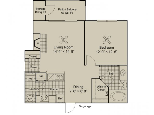 Foundations by the Vineyard Apartments Malbec A1 1 BR 1 bath