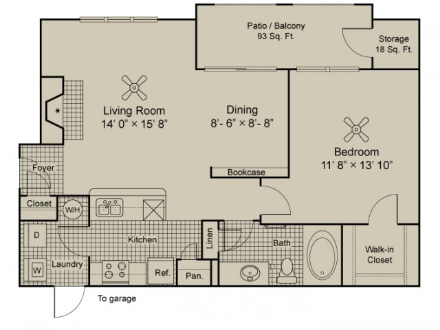 Clairet 1 Bedroom apartment euless